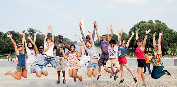 Jumping for joy in the Nation's capital