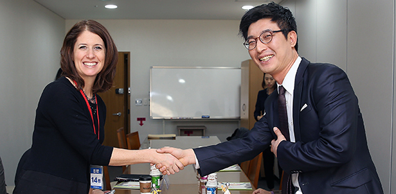DAS Lerner and Korean Ministry of Education Director Jae-Sung Park