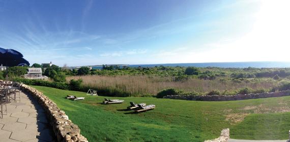 Panoramic view of Block Island, New York