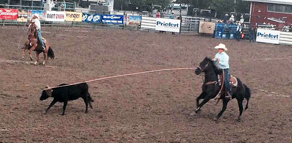 Action shot from the rodeo