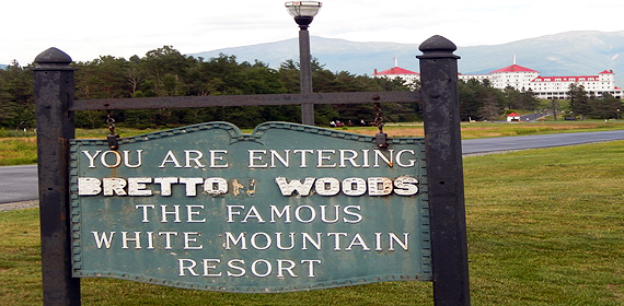 Bretton Woods, New Hampshire welcome sign
