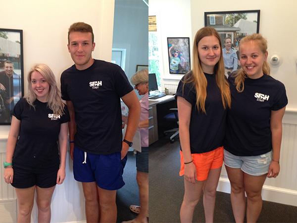 Left: Camp Counselors Thomas Huckstepp & Ciara Leeming | Right: SWT Participants Weronika Popiolek & Anna Bak