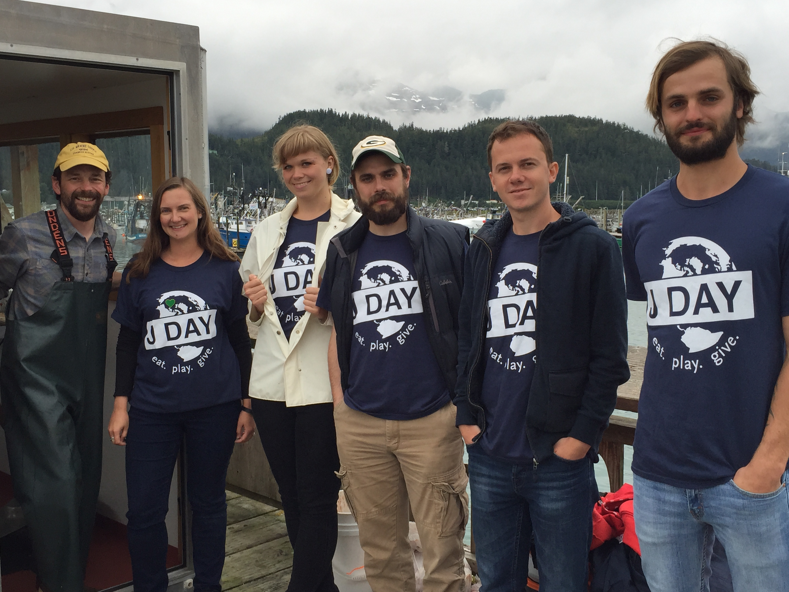 J-1 exchange visitors tour Prince William Sound Science Center on J Day.