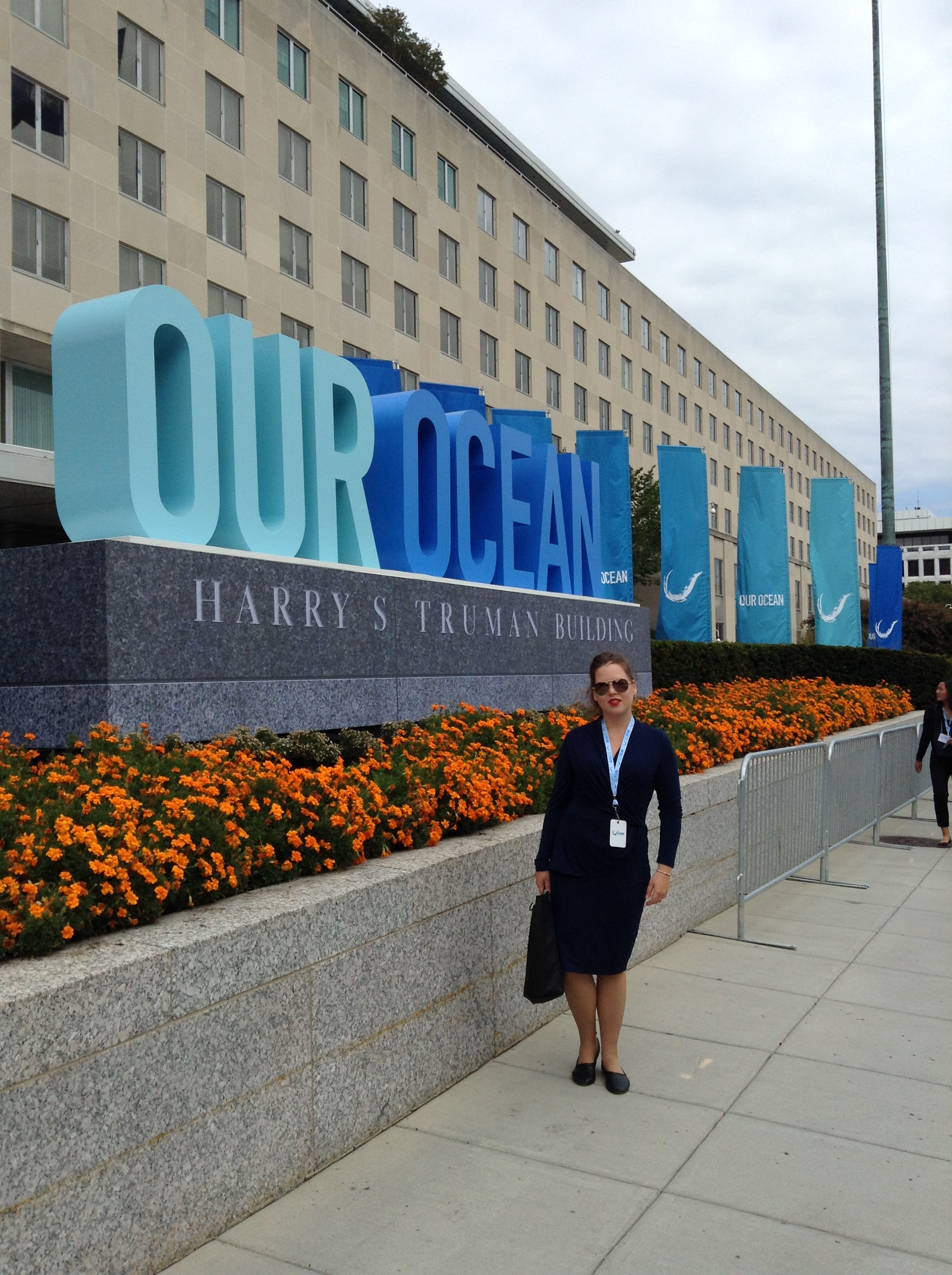 Mariliis Eensalu at Our Ocean, One Future Leadership Summit at the State Department.