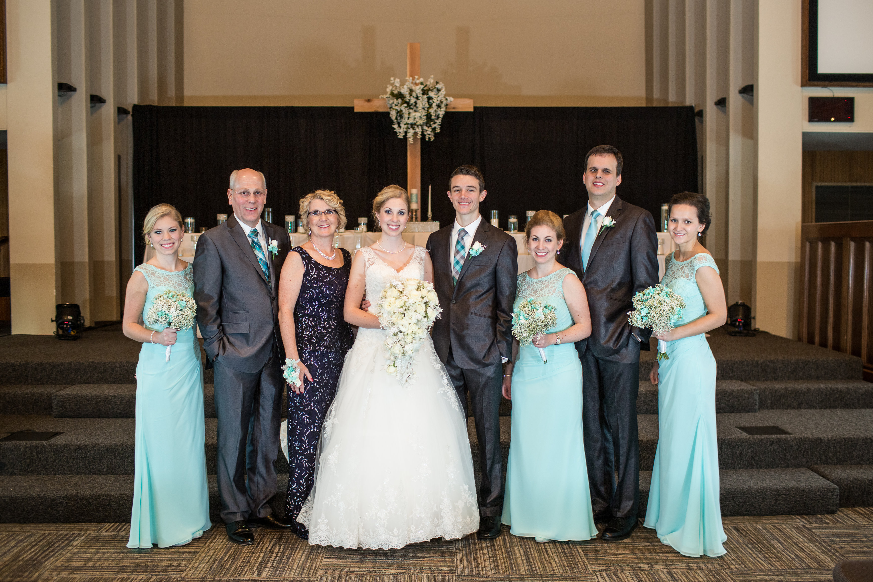 Antonia- shown on the far right (EF Class of '08-09) joins the Schutte - Vanderzee wedding (Photo courtesy of EF High School Exchange Year)