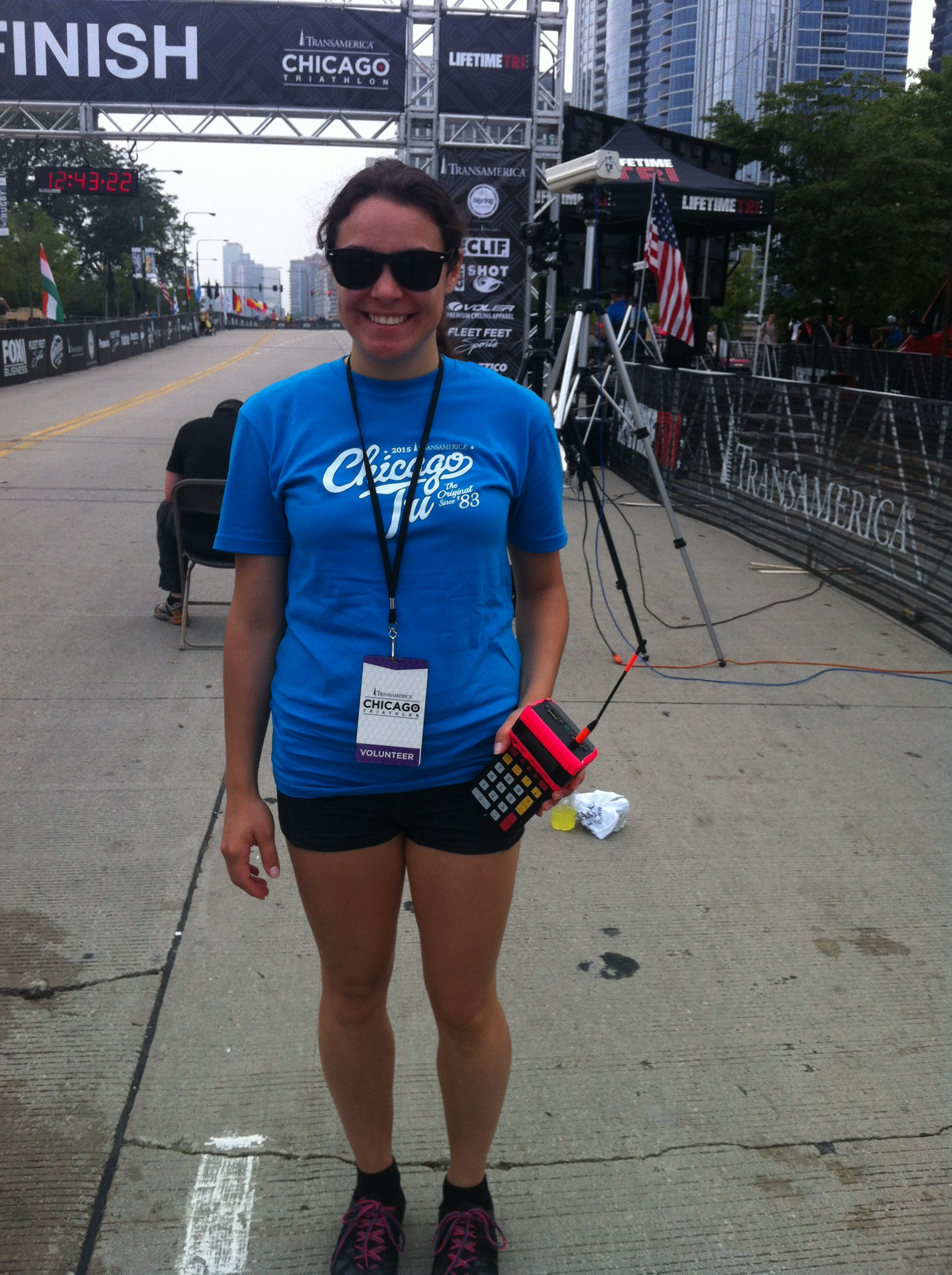 Camille volunteering for the Leukemia and Lymphoma Society at the Chicago Triathalon