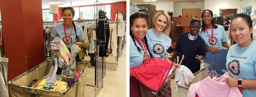Lauren volunteering at The Salvation Army
