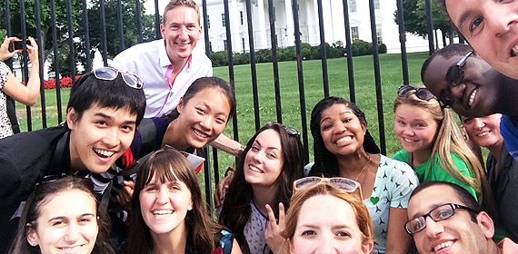 students visit to the White House!