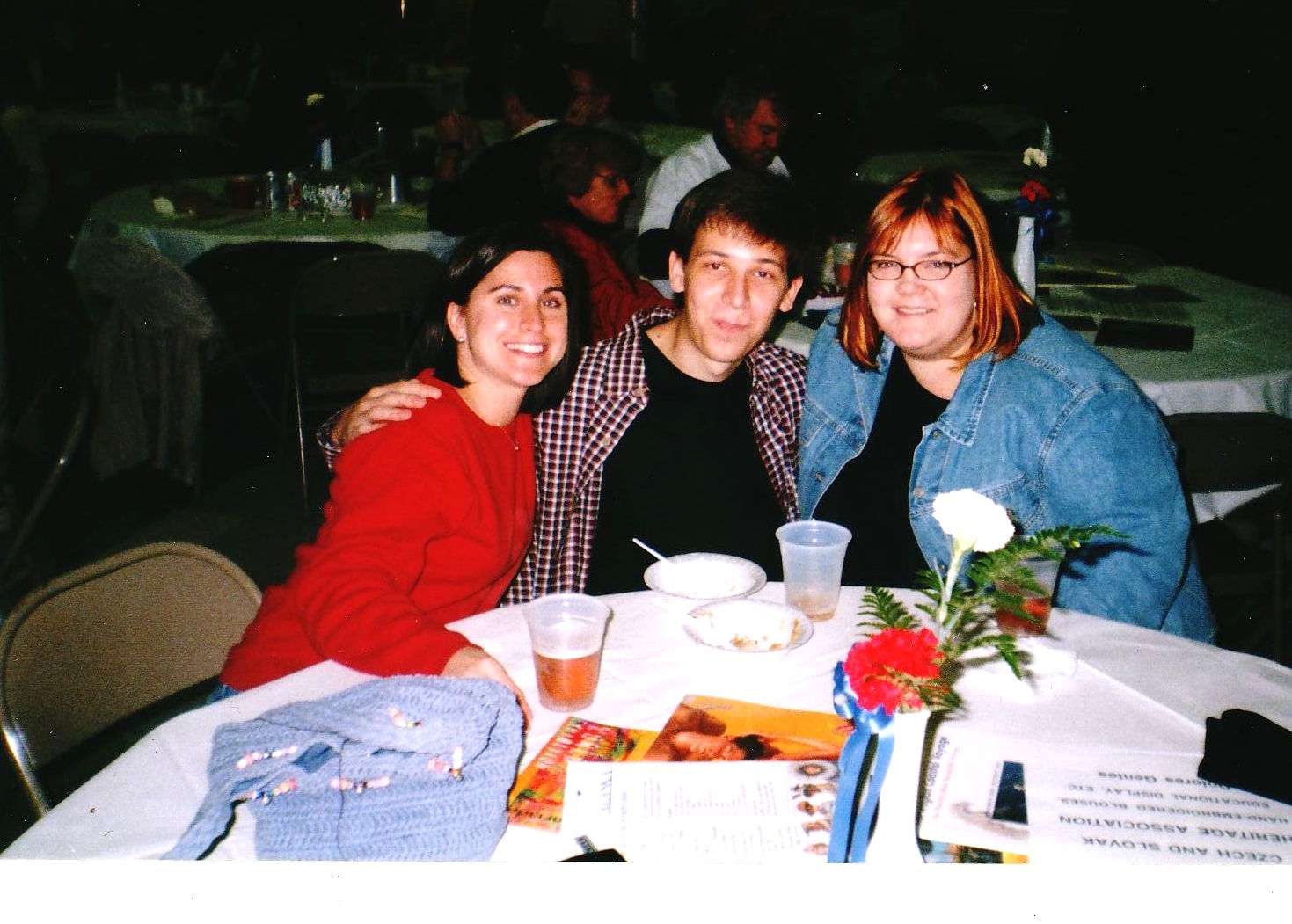 Darra Klein (right), and her lifelong friend, David Čeljuska (center) attending Baltimore's annual Slovak festival in 2001 with another friend.