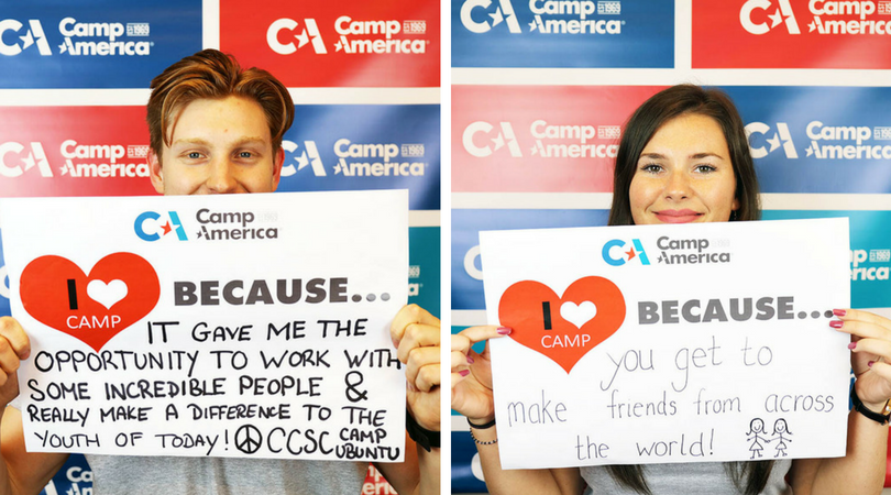 Left: Adam Squire, Canyon Creek Summer Camp (2013, 2014, 2015, 2016) | Right: Emma Burns, YMCA Camp Takodah (2015, 2016, 2017)